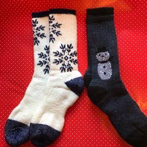 NWOT Wool Christmas socks. Two pair.